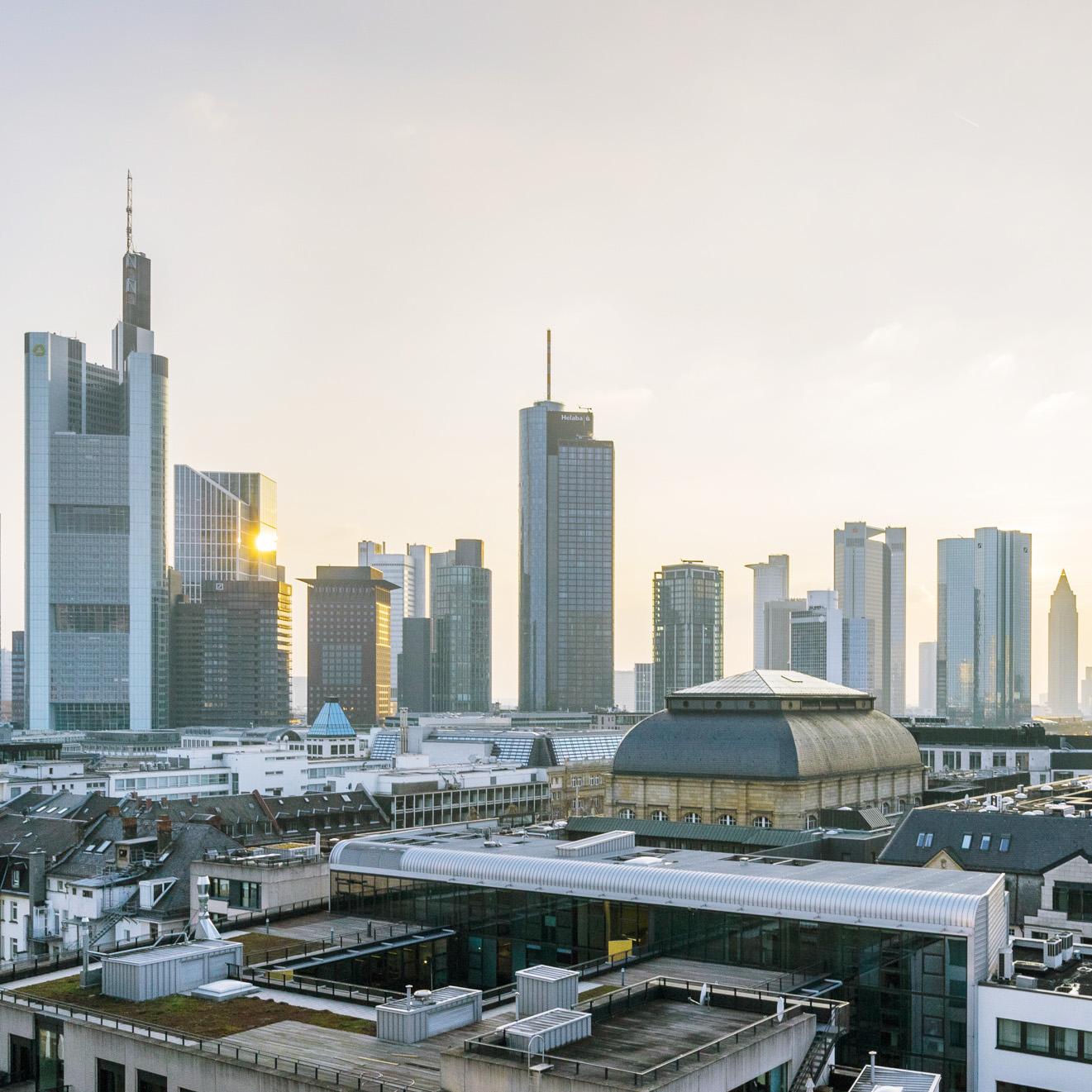 Frankfurt Skyline Drohnen Fotografie